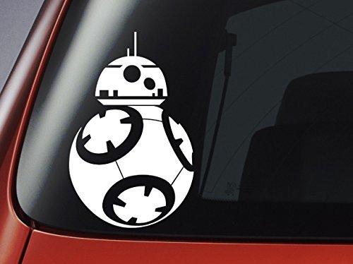 Preisvergleich Produktbild Aufkleber für Autofenster / Wand / Laptop, Star Wars-Motiv BB8 BB-8