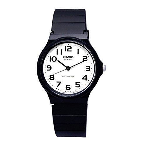 11d7b1cb4446 CASIO 2729 MQ-24-7B - Reloj Caballero cuarzo correa caucho negro dial blanco