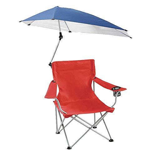 Lcxligang Klappbarer Strandkorb, klappbarer Campingstuhl, leichte Liegestühle mit verstellbarem Sonnenschutz (Color : Red)