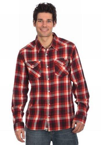 Vans chemise à manches longues pour homme aV cANYONERO Rouge - Bordeaux