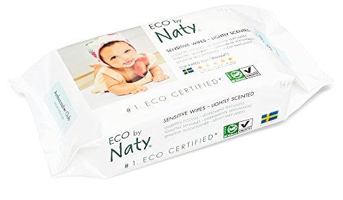 Naty by Nature Babycare Öko Feuchttücher Leicht Parfümiert, 12er Pack (12 x 56 Stück) - 4
