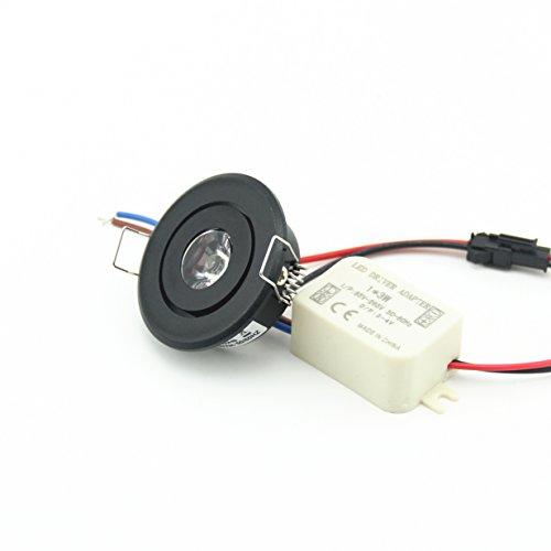 Mini focos LED empotrables con luz blanco Frío - Pack de 10