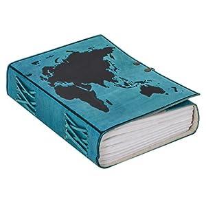 """Libreta Gusti Cuero studio """"Ronda"""" Agenda Formato B5 Diario Viaje Dibujo Recetas Libreta de Foto Azul 2P47-24-20"""