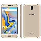 Telefono Cellulare Android 7 Quad Core Smartphone Sotto 150 Supporta 16GB ROM Cellulari Economici 5,5 Pollici MT6580 CPU 4 Core WIFI Cellulare Fotocamera 8MP Batteria 2800mAh GPS Dual SIM (Oro)