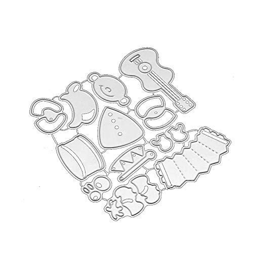 zmigrapddn DIY Papierstanzformen, Weihnachtsbänder, Stanzformen DIY Papier Karten Basteln Scrapbooking Embossing Metall Schablone Schablone Schablone DIY Handarbeit, Silber - Scrapbook-papier Weihnachten