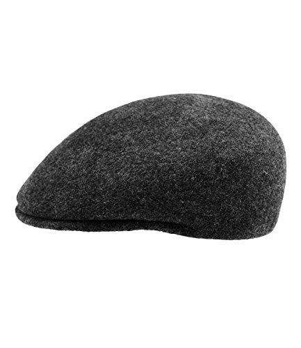 Flatcap Schiebermütze Schirmmütze Gatsby Sportmütze Golfermütze Mütze Cap einfarbig für Männer (FI-42215-W16-HE1-88-60) in Anthrazit, Größe 60 inkl. EveryHead-Hutfibel (Gatsby-mode Frauen)