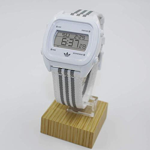 Adidas Originals White & Grey Sydney Digital Chronograph Strap Watch...