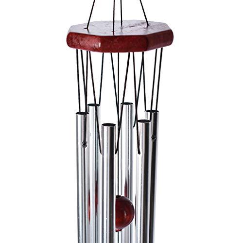 Inselfeld Klangspiel Windspiel Wind Chime Bell Vintage aus Holz Metall 75 x 10 cm für Zuhause Outdoor Garten Dekoration Geschenk