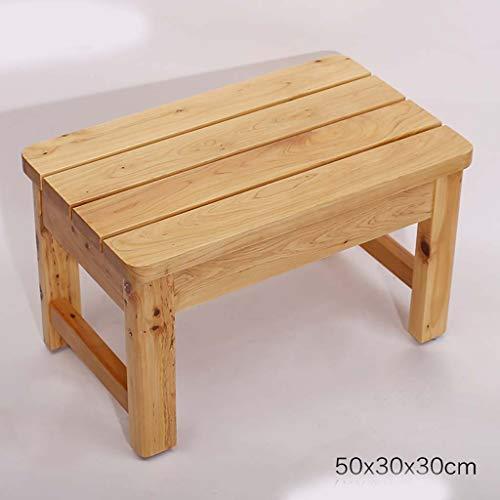 Escabeau en bois massif petit banc en bois pédale de chevet imperméable à l'eau anti-corrosif basse banc haut 50 * 30 * 30cm (Couleur : A)