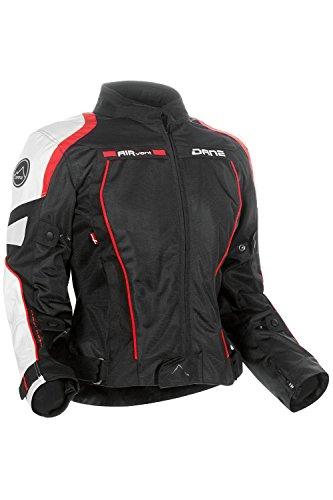 DANE FANO 2 LADY Motorradjacke Sommer Damen Farbe rot/weiß/schwarz, Größe 42