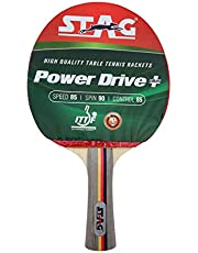 Stag Power Drive Plus Table Tennis Racquet( Multi- Color, 174 grams, Intermediate )