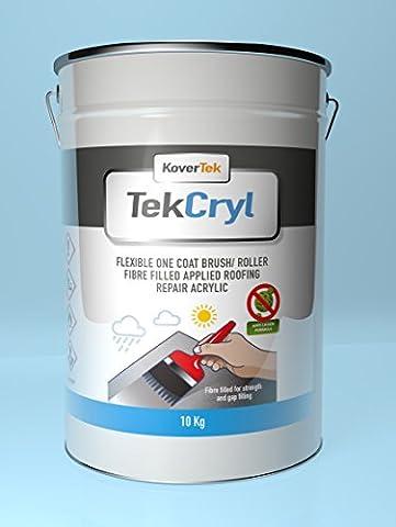 10kg Not Dach Reparatur, Fast Fix, cromapol, evercryl, acrypol, tekcryl (grau)