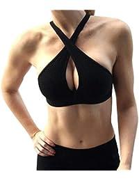 Mengmiao Sujetador Deportivo Yoga para Mujer Ejercicio Fitness Ropa Interior