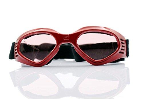 Namsan stilvolles und Fun Tier / Hundewelpen UV-Schutzbrillen Sonnenbrille wasserdichten Schutz Sun-Brille fuer Hunde-Red