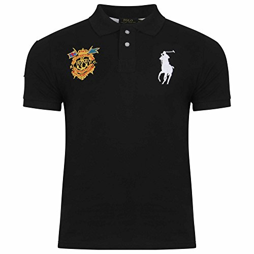 Ralph Lauren Men's Masterclass Polo Shirt. Short Sleeve. Big Pony. Custom Fit