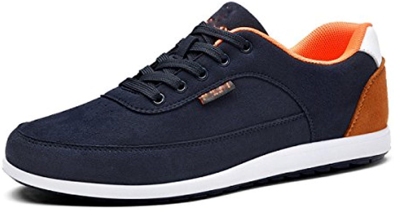 GRRONG Herrenschuhe Freizeitschuhe Low Hilfe Schnürschuhe Bequeme Trendy Schuhe