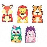 Party Bags 2 Go Tier- Fingerpuppen Verschiedene Designs x 12
