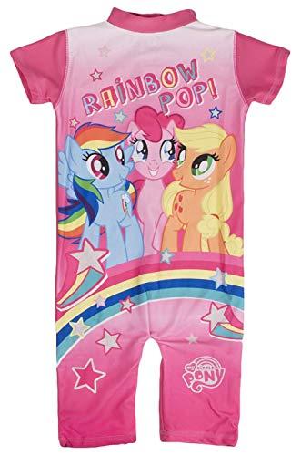 Mädchen Charakter UV 50+ Badeanzug Sun geeignet Bademode Kostüm Kinder Sunsuit Größe uk1-5 Jahre - My Little Pony - Regenbogen Pop, 18 - 24 Months