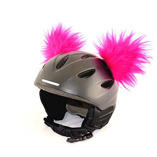 Helm-Ohren für Skihelm, Snowboardhelm, Kinder-Helm, Kinder-Skihelm, Motorradhelm oder Fahrradhelm - verwandelt den Helm in EIN EINZELSTÜCK - der HINGUCKER - für Kinder und Erwachsene HELMDEKO (Pink)