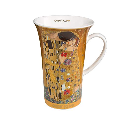 Goebel Kuss Tasse - Henkelbecher - Kaffeebecher - Gustav Klimt- Bone China - Höhe 15 cm 0,5 l