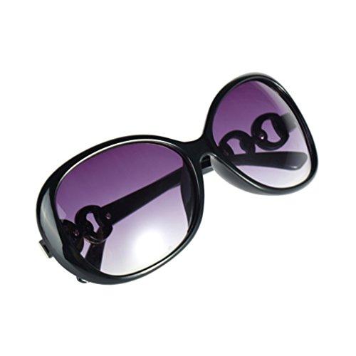 Cheriee Fashion Vintage Women Shades Oversized Eyewear Classic Design Sunglasses In Black 1 Pack