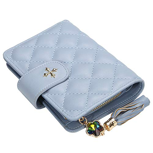 Mini Short Wallet Ladies Purse Clutch Bags For Women Gifts, Elegant PU Leather Wallet Handbags Blocking Multi Credit Card Holder Small Coin Purse With Zipper Pocket