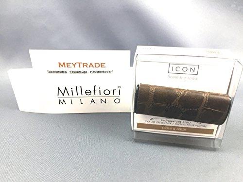 Preisvergleich Produktbild Millefiori Premium Autoduft Safari Legni e Spezi KFZ Auto Autobedufter inkl. exklusivem MeyTrade Sonderbogen und Acrylbox