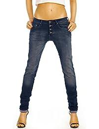Bestyledberlin Damen Jeans, Boyfriendjeans, Relaxed Hosen Baggy Stil, Loose Fit Stretch Jeanshosen j46f
