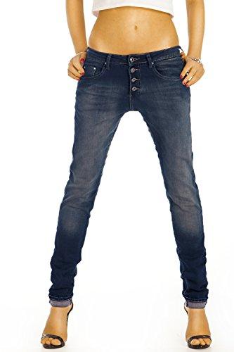 Bestyledberlin Damen Jeans, Boyfriendjeans, Relaxed Hosen Baggy Stil, Loose Fit Stretch Jeanshosen j46f 38