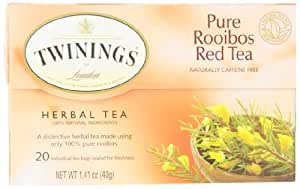 Twinings African Rooibos Red Tea, 20-Count Tea Bags (Pack of 6) FlavorName: African Rooibos Red Tea