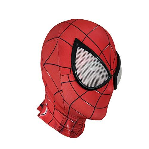 YIWANGO Erwachsene Spider-Man Kopfbedeckung Maske Maskerade Superheld Set Halloween Party Film Requisiten Cosplay Maske,C