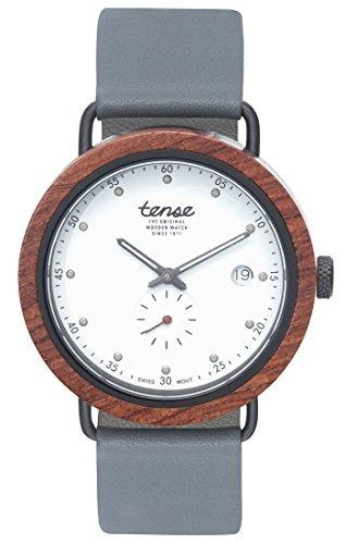 TENSE Premium // Hudson - Karriholz - Herren Holz-Uhr B4800R-B-W
