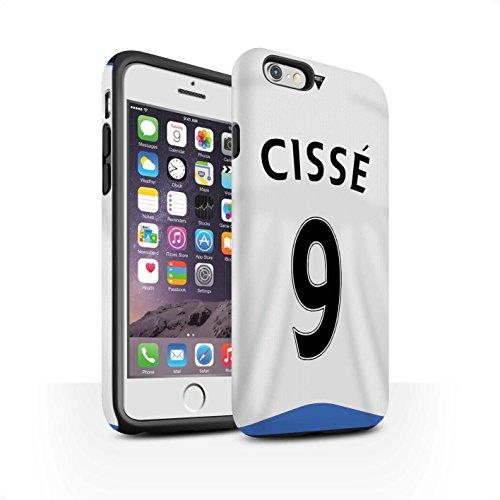 Offiziell Newcastle United FC Hülle / Matte Harten Stoßfest Case für Apple iPhone 6 / Cissé Muster / NUFC Trikot Home 15/16 Kollektion Cissé