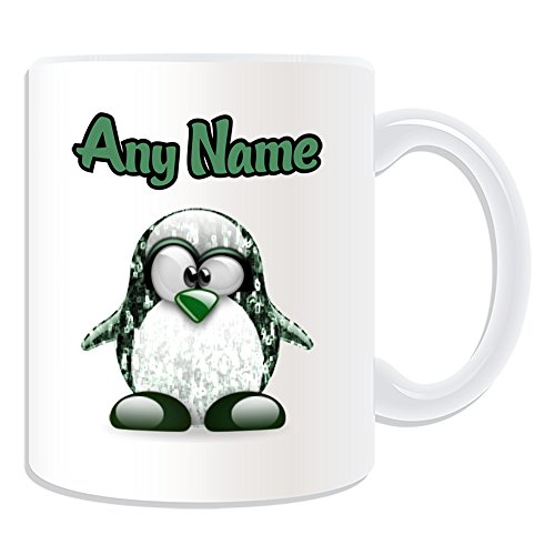 Personalisiertes Geschenk–Die Matrix Neo Tasse (Pinguin Film Charakter Design Thema, weiß)–Jeder Name/Nachricht auf Ihre Einzigartiges–Kostüm Film Superheld (Neo Matrix Kostüme)
