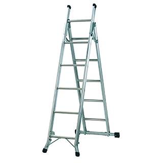 Abru 5 Way Combination Ladder with Platform, Heavy Duty 150Kg Load Capacity, BS EN131 certification, 5 Year Guarantee