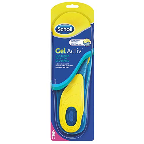 Scholl Gel Activ Everyday Solette Uso Quotidiano per Donna, 35-40.5 EU, 1 Paio