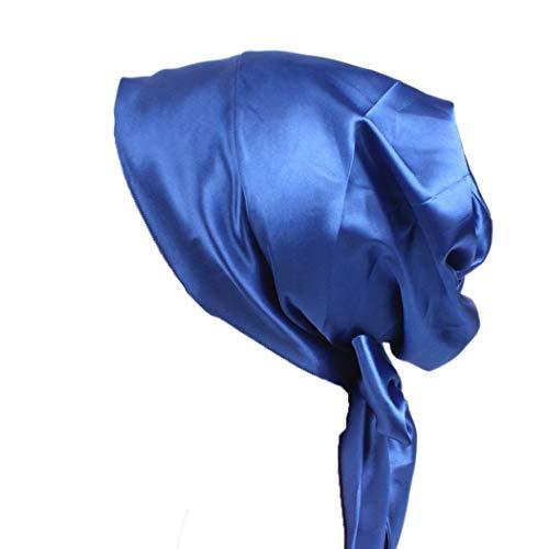 FORLADY Damen Satin Bow Turban Cap Seiden Chemotherapie Cap Long Tail Schädel Hut
