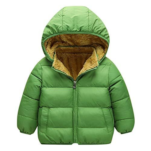 Selou Kind Baby JungeWintermantel Einfarbiger Hoodie Lässiger dicker Mantel Reißverschluss-Baumwoll-Daunenjacke Manteljacke dicke warme Jacke Kleidung katalog ausgefallene jeanskleid klamotten schicke