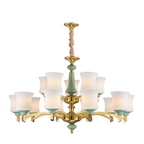 PONEYFREELY Zeitgenössische 15-Light Large Chandeliers Moderne Klarglas-Shades Anhänger-Beleuchtung Gebürstetes poliertes Nickel Esszimmer-Beleuchtungs-Hängen, die justierbare Draht-halb Flush-Deckenl -