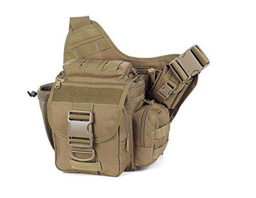 Zll/2015nuova fotocamera borsa tattico esercito fan Sella Borsa tempo libero all' aperto singolo Tracolla Slung, Verde militare cachi