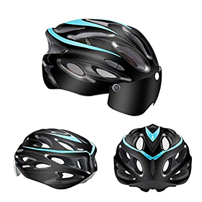 Stylelove Bike Helmet with Visor LED Taillight Insect Net Padded Road Mountain Bike Cycling Helmet Lightweight Cycle Bicycle Helmets for Adult Men and Women from Stylelove