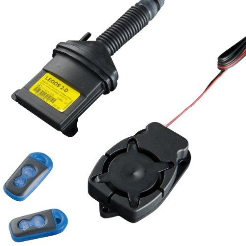 M+S Funk-Alarmanlage LEGOS 2 inkl. Fernbedienungen für Motorräder, Roller und Quads, Alarmsystem mit 114 dB, Motorrad Sicherheitstechnik mit Notstromakku, erweiterter Diebstahlschutz mit Zusatzsensoren
