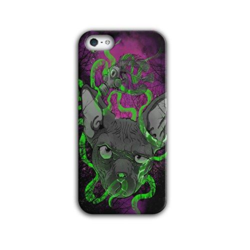 Katze Giftig Maske Tier schaurig Katze iPhone 5 / 5S Hülle | Wellcoda (Katze Maske Und Schwanz)