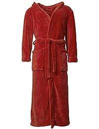 Celin ATEX chal Albornoz con capucha de para mujer & Hombre | muchos tamaños y colores, 100% poliéster, microfibra, forro polar, Florida Celin ATEX, microfibra, Chili-rot, XL