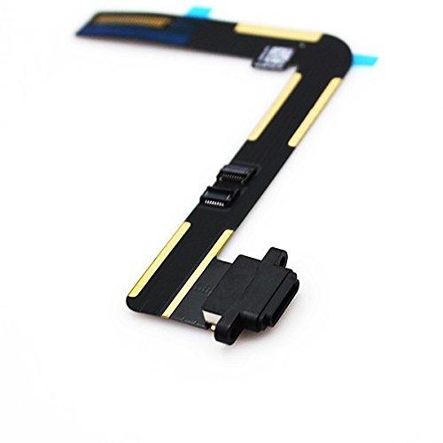 SHS Dock Connector iPad AIR Ladebuchse Flex N Kabel USB Charging Port Cable Schwarz / Apple / iPad 5 / Antenne GPS / Batterie / Battery / Original / LCD Display / Digitizer / Klebefolie