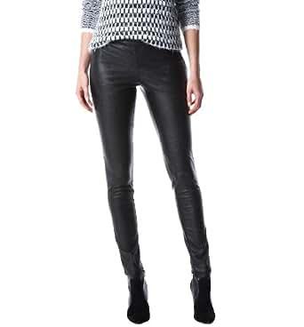 Promod Pantalon femme en faux cuir Noir 38