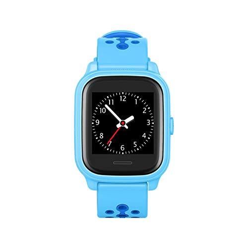Anio 4 Touch BLAU GPS Kinder Smartwatch Smartphone Watch - Schutz für Ihr Kind - SOS Notruf + Telefonfunktion - Keine MONITORFUNKTION - GPS Kinder Uhr (Blau) Touch-screen-tasten