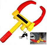 #3: Autofurnish Universal Yellow Anti Theft Car Wheel Tyre Lock Clamp - Nypd Style