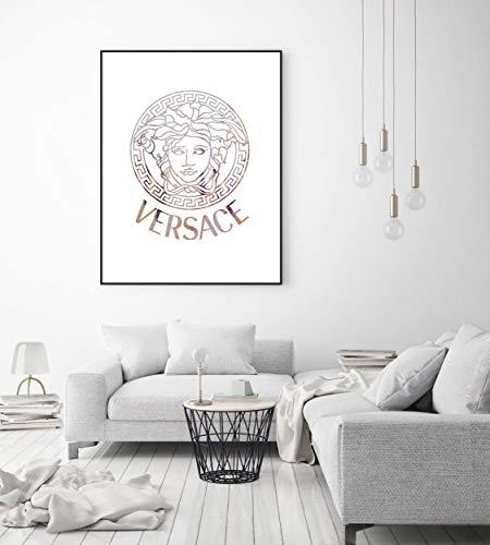 Rosa Versace Druck, Designer-Kunst, Wandkunst, Poster, Dekor, Geschenke, Klatsch Mädchen Druck, Mode-Designer-Geschenke, Mode-Dekor, High-End-Geschenke