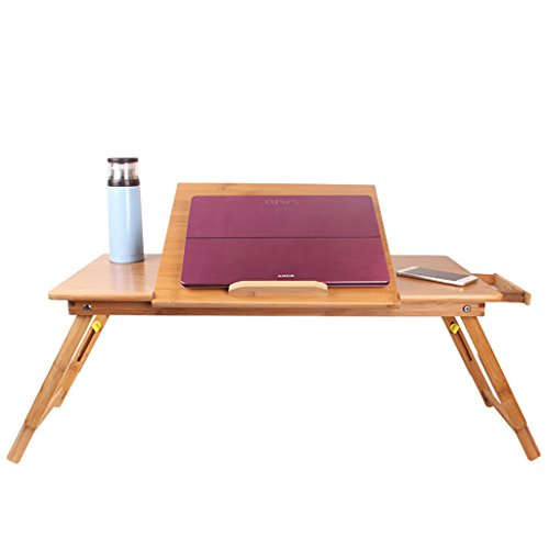 Portable Bambus Notebook Stand Einfache Schlafzimmer Faule Tisch Faltbare Lift Mobile Kleinen Schreibtisch (Farbe : C)
